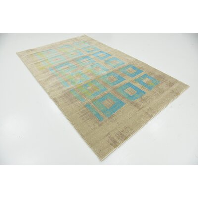 Christiana Blue Area Rug Rug Size: 5' x 8'