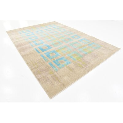 Christiana Blue Area Rug Rug Size: 7 x 10