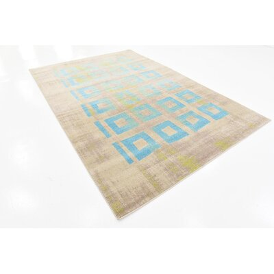 Christiana Blue Area Rug Rug Size: 6 x 9