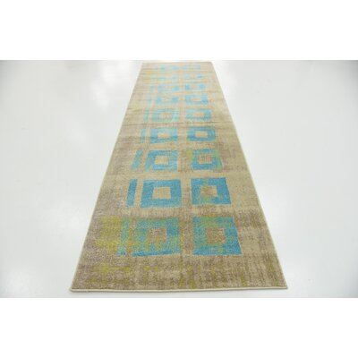 Christiana Blue Area Rug Rug Size: Runner 3 x 10