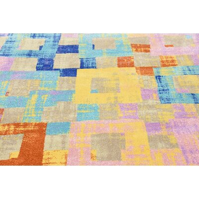 Demers Beige Area Rug Rug Size: 7 x 10