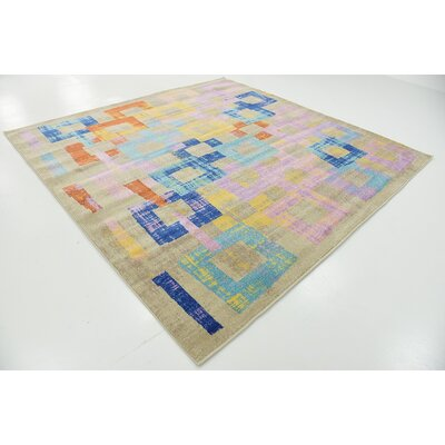 Timothy Purple Area Rug Rug Size: Square 8