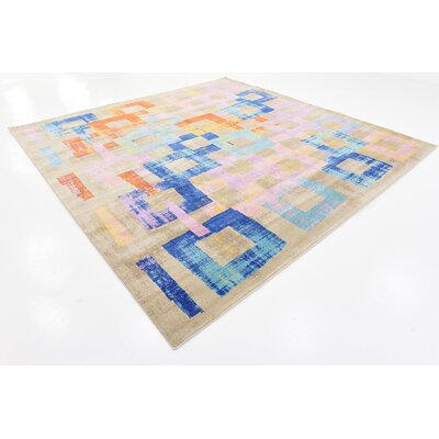 Timothy Purple Area Rug Rug Size: Square 10