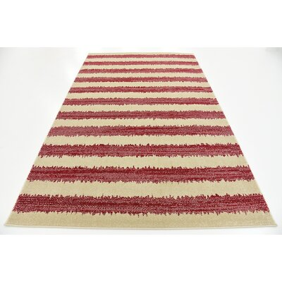 Valarie Red Area Rug Rug Size: 5 x 8