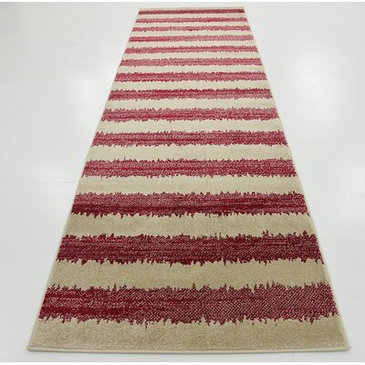Valarie Red Area Rug Rug Size: Runner 3 x 10