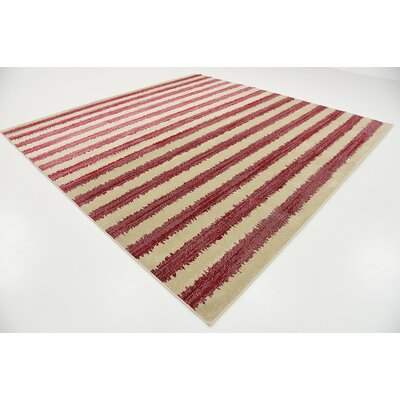Valarie Red Area Rug Rug Size: Square 10