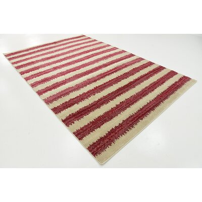 Valarie Red Area Rug Rug Size: 6 x 9