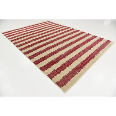 Valarie Red Area Rug Rug Size: 7 x 10