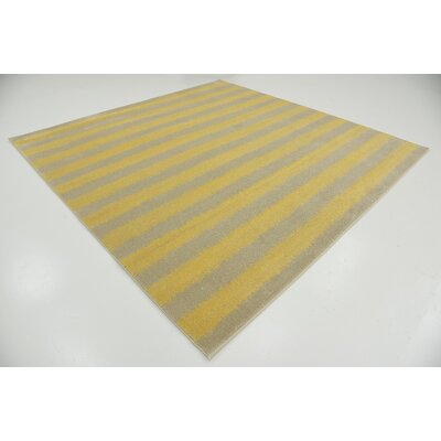 Ameson Yellow Area Rug Rug Size: Rectangle 5 x 8