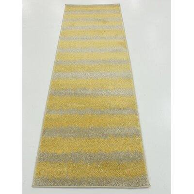Ameson Yellow Area Rug Rug Size: Runner 2 x 6