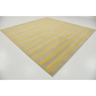 Ameson Yellow Area Rug Rug Size: Square 10