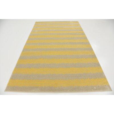 Ameson Yellow Area Rug Rug Size: 5 x 8