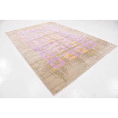 Rolf Lavender Area Rug Rug Size: Rectangle 7 x 10