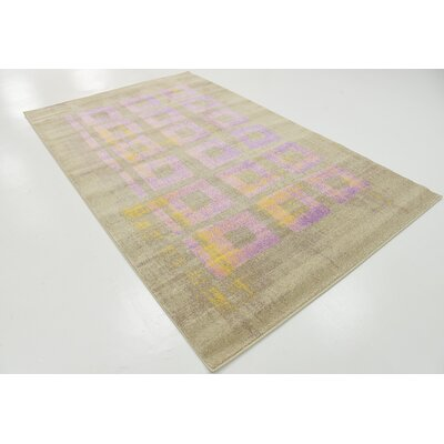 Rolf Lavender Area Rug Rug Size: Rectangle 5 x 8