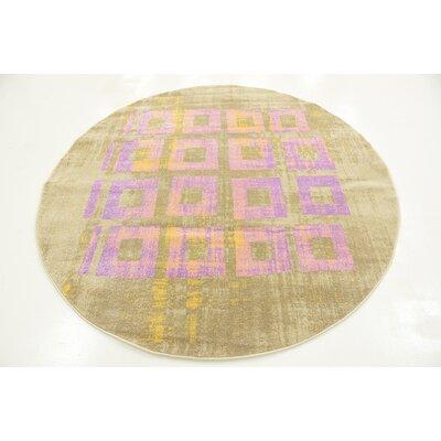 Tamera Lavender Area Rug Rug Size: Round 6