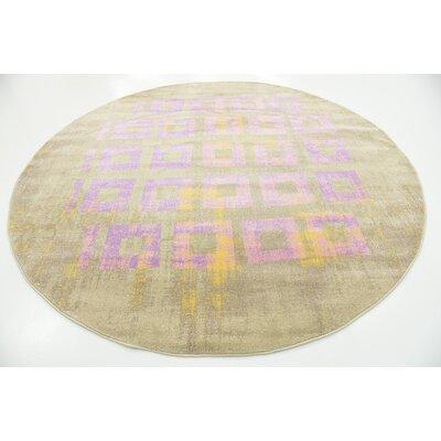 Tamera Lavender Area Rug Rug Size: Round 8