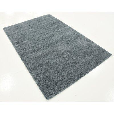 Karole Slate Blue Area Rug Rug Size: 4 x 6
