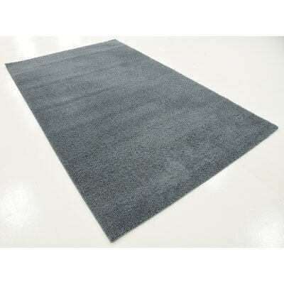 Karole Slate Blue Area Rug Rug Size: 5 x 8