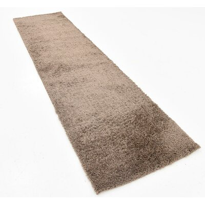 Virgie Solid Shag Brown Area Rug Rug Size: Runner 2 x 67