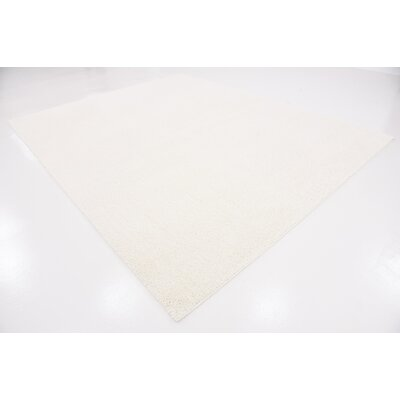Kostka White Area Rug Rug Size: Rectangle 9 x 12