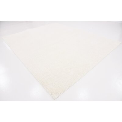 Worden White Area Rug Rug Size: 9 x 12