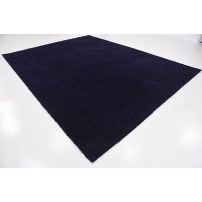 Wilfred Solid Shag Midnight Blue Area Rug Rug Size: 9 x 12