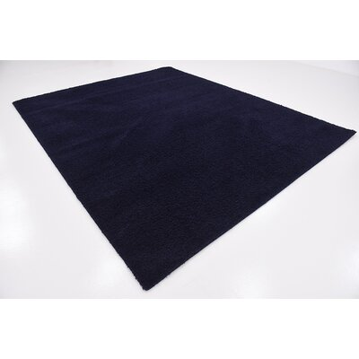 Wilfred Solid Shag Midnight Blue Area Rug Rug Size: 8 x 10