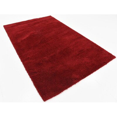 Verna Red Area Rug Rug Size: 5' x 8'