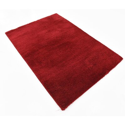 Verna Red Area Rug Rug Size: Rectangle 4 x 6
