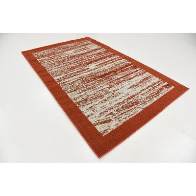 Alley Rock Terracotta Indoor/Outdoor Area Rug Rug Size: 5 x 8