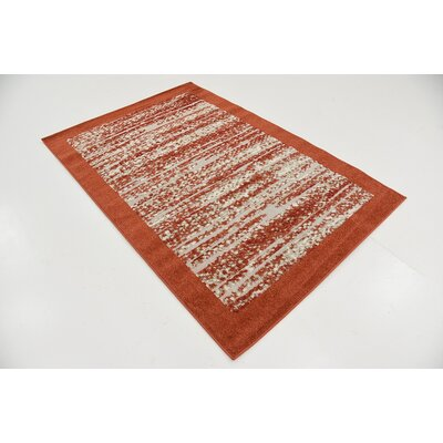 Alley Rock Terracotta Indoor/Outdoor Area Rug Rug Size: Rectangle 4 x 6