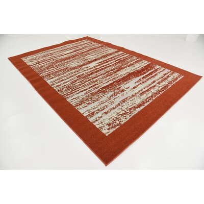 Alley Rock Terracotta Indoor/Outdoor Area Rug Rug Size: 7 x 10