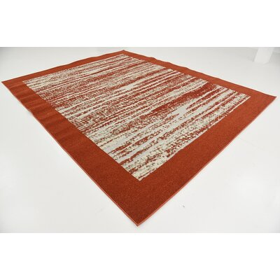 Alley Rock Terracotta Indoor/Outdoor Area Rug Rug Size: 8 x 10