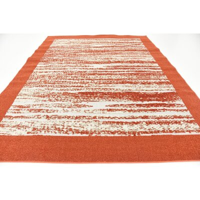 Alley Rock Terracotta Indoor/Outdoor Area Rug Rug Size: Rectangle 8 x 10