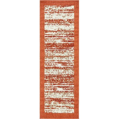 Alley Rock Terracotta Indoor/Outdoor Area Rug Rug Size: Runner 2 x 6