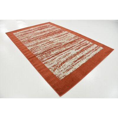 Alley Rock Terracotta Indoor/Outdoor Area Rug Rug Size: 6 x 9