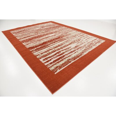 Alley Rock Terracotta Indoor/Outdoor Area Rug Rug Size: 9 x 12