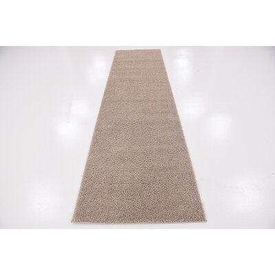 Woodrow Taupe Area Rug Rug Size: Runner 27 x 10