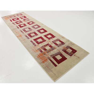 Vernon Red Area Rug Rug Size: Runner 3 x 10