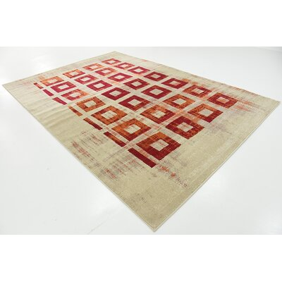 Vernon Red Area Rug Rug Size: 7 x 10