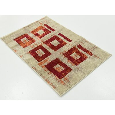 Vernon Red Area Rug Rug Size: 22 x 3