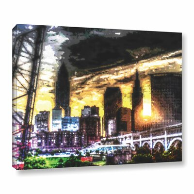 'Forest City' Graphic Art on Wrapped Canvas Size: 14