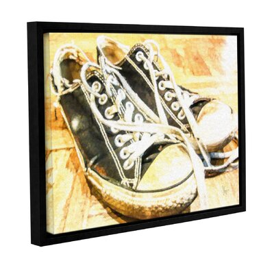 'Chucks' Framed Graphic Art on Wrapped Canvas Size: 14