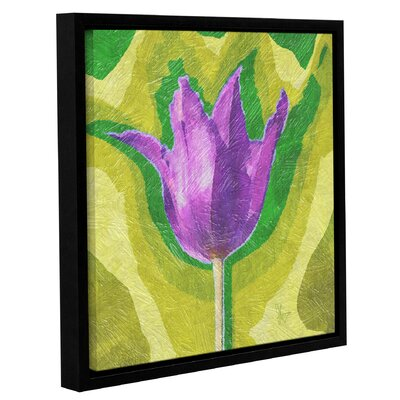 'Pruple for Peace' Framed Graphic Art on Wrapped Canvas Size: 10