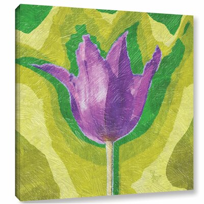 'Pruple for Peace' Graphic Art on Wrapped Canvas Size: 10