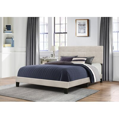 Janie Upholstered Panel Bed Size: Full, Upholstery: Fog