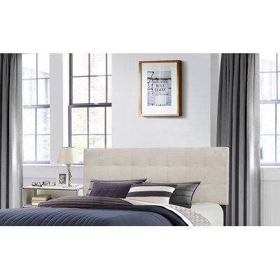 Decker Upholstered Panel Bed Size: Queen, Upholstery: Glacier Gray