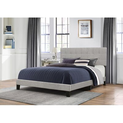 Janie Upholstered Panel Bed Size: Full, Upholstery: Glacier Gray