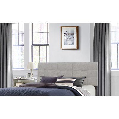Decker Upholstered Panel Headboard Size: King, Upholstery: Glacier Gray
