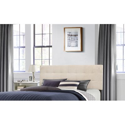 Decker Upholstered Panel Headboard Size: Full/Queen, Upholstery: Linen